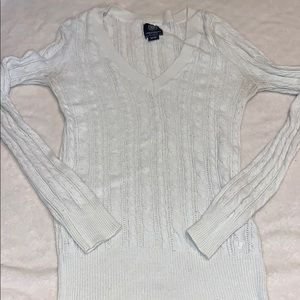 American Eagle Cable Knit V Neck Sweater